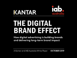 New research finds brand building impact of digital advertising  has been underestimated
