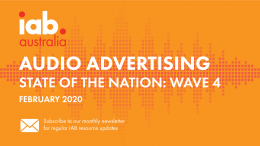 Audio Advertising: State of the Nation Wave 4 - 2020